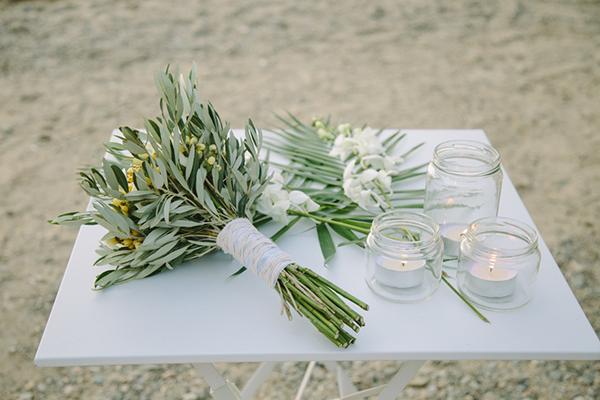 Νυφικη-ανθοδεσμι-φυλλα-ελιας