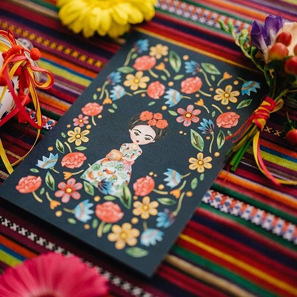 colorful-bohemian-baptism-ideas-theme-frida-kahlo_04x