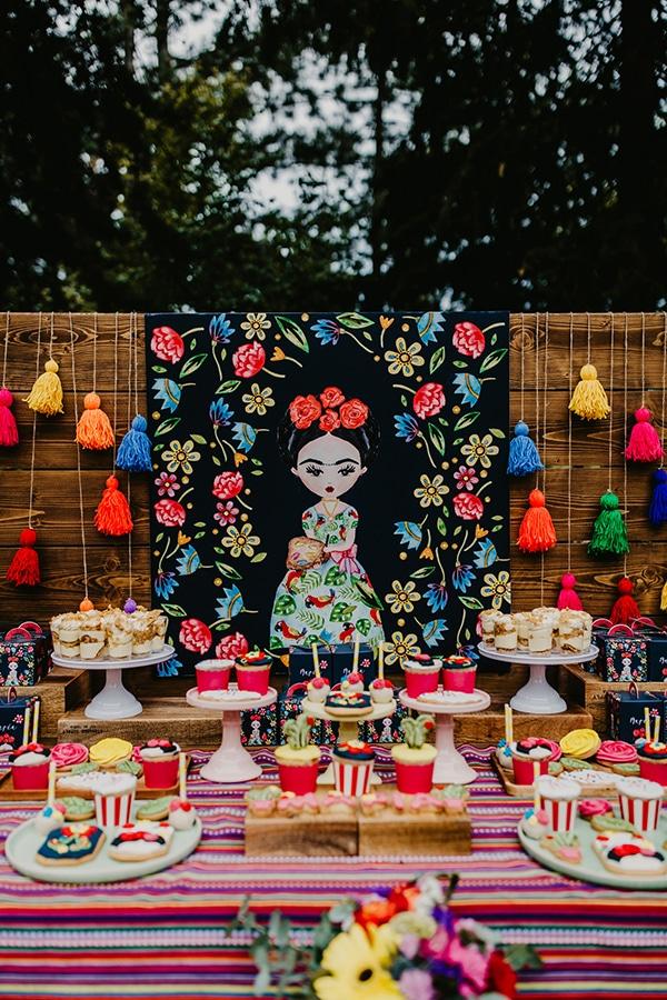 colorful-bohemian-baptism-ideas-theme-frida-kahlo_11
