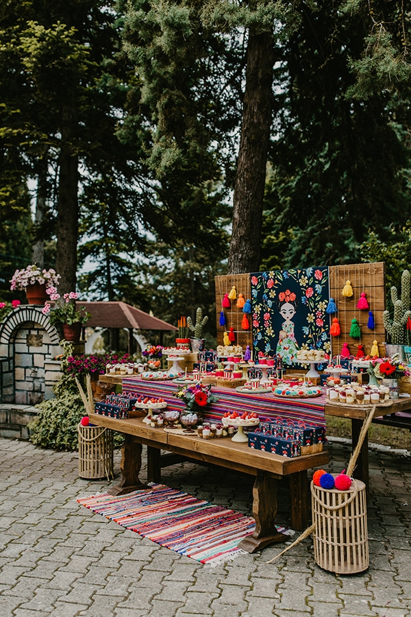 colorful-bohemian-baptism-ideas-theme-frida-kahlo_12